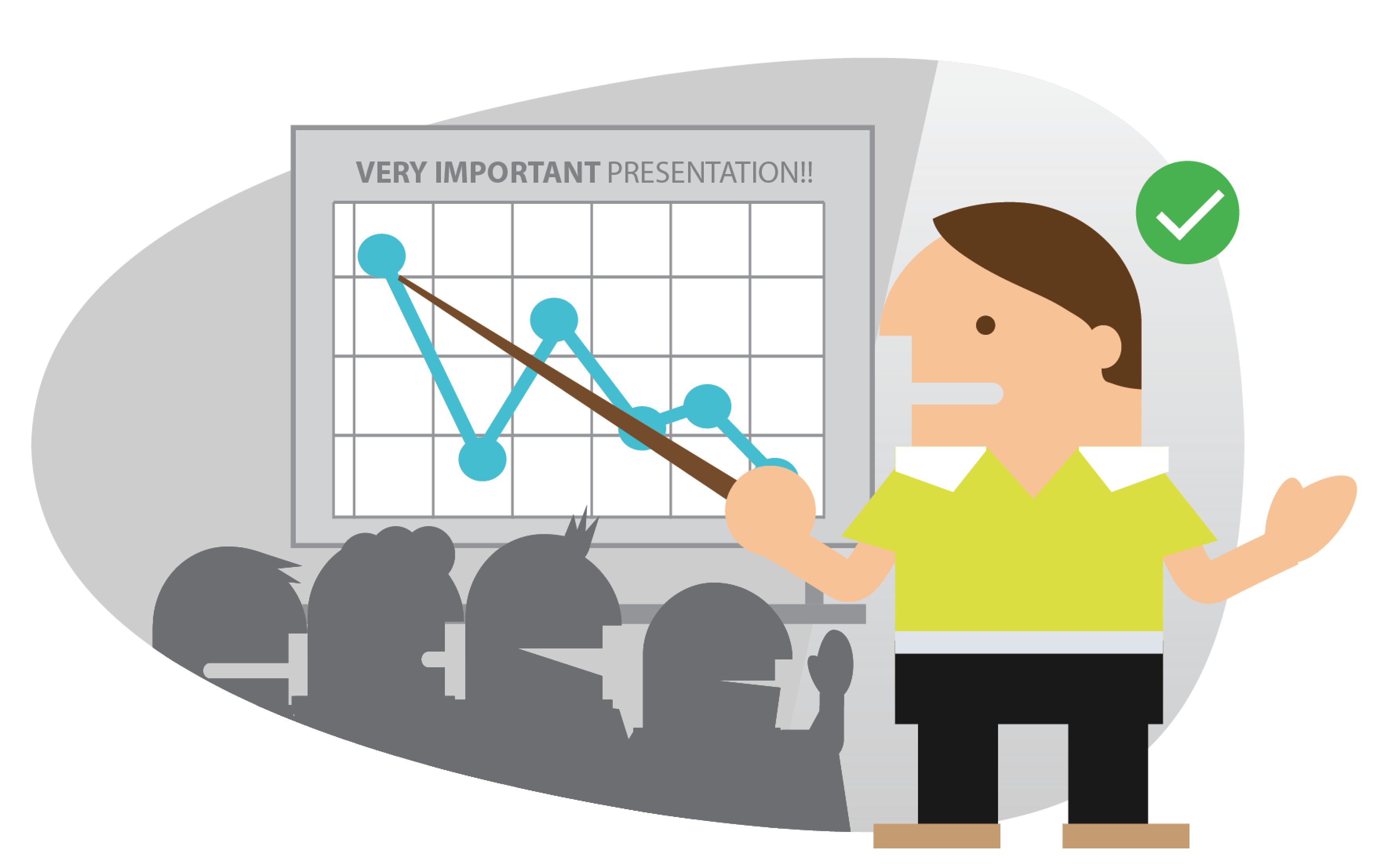 Remain calm to deliver an effective presentation