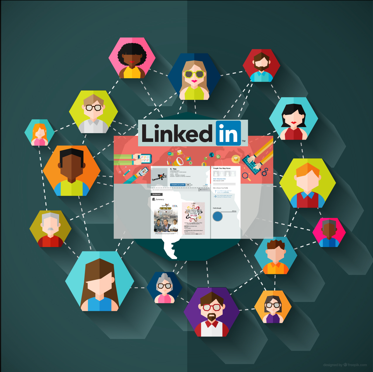 Linking into a social network online