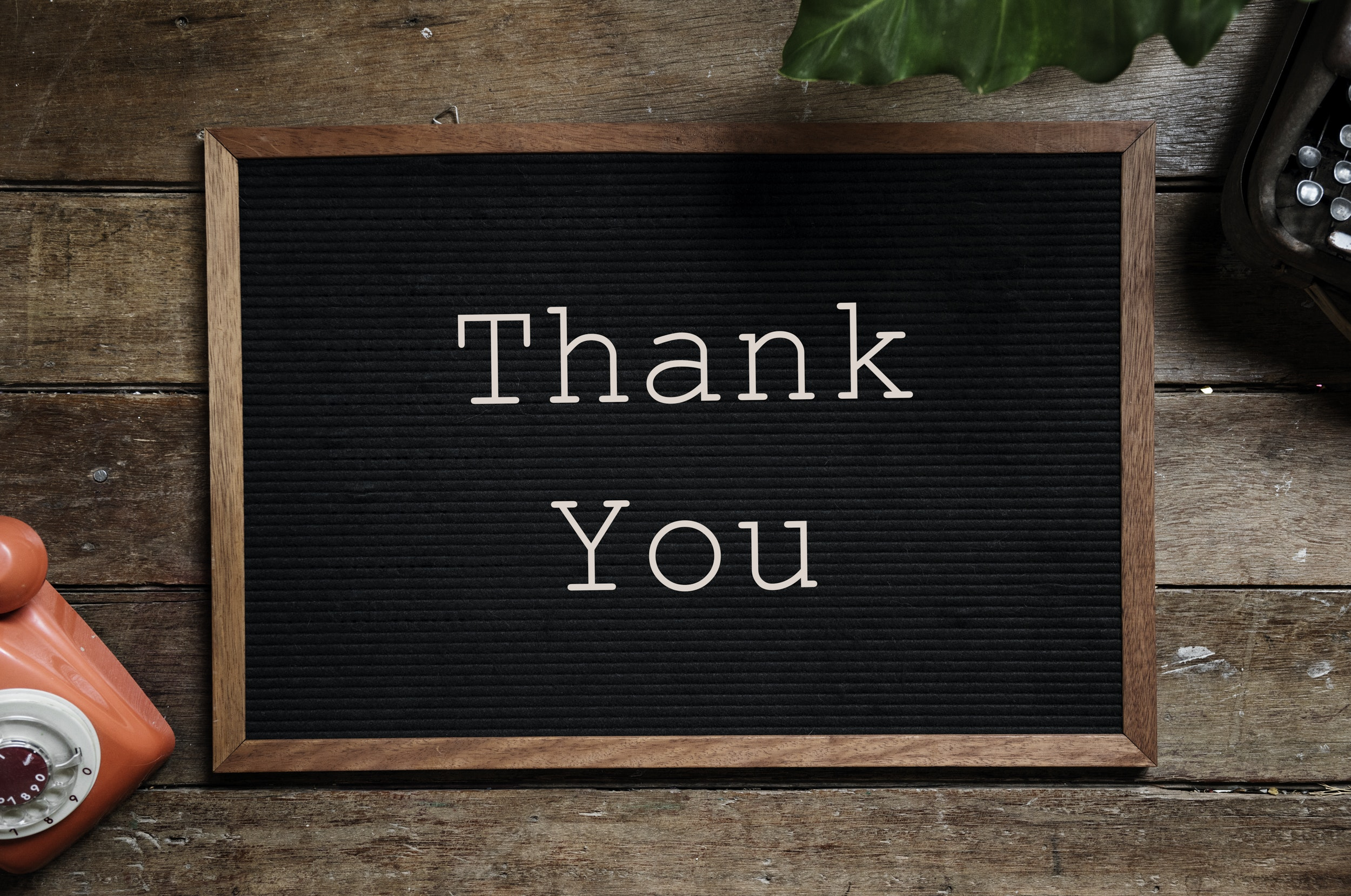 The importance of saying 'thank you'